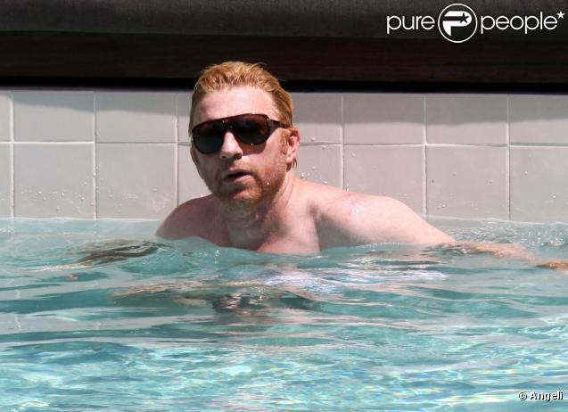 Un petit plongeon pour Boris Becker, à Miami, vendredi 3 septembre.