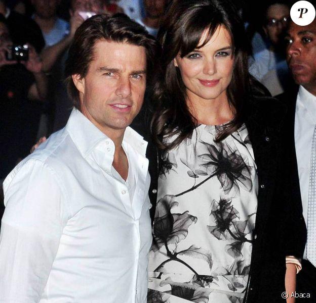 Katie Holmes et Tom Cruise, à l'occasion de l'avant-première de The Romantics, à l'AMC Loews Theatre de New York, le 7 septembre 2010.
