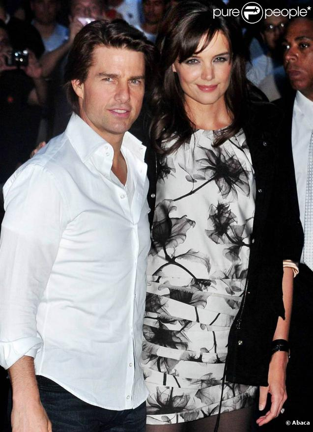 Katie Holmes et Tom Cruise, à l'occasion de l'avant-première de  The Romantics , à l'AMC Loews Theatre de New York, le 7 septembre 2010.