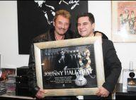 PHOTOS EXCLUSIVES : Johnny Hallyday est triple disque de platine...