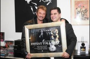 PHOTOS EXCLUSIVES : Johnny Hallyday est triple disque de platine...