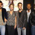 Claire Keim, Stéphane Debac, Farouk Bermouga, Bartholomew Bouteillis et Edouard Montoute au festival de la fiction TV de La Rochelle, le 9 septembre 2010.