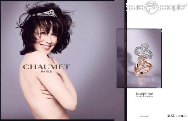 sophie marceau chaumet ad print wedding  rings