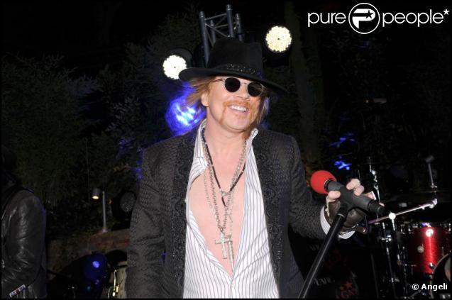 Axl Rose / Concert privé des Guns N' Roses à l'Arc à Paris, le 14 septembre