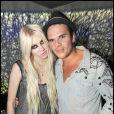 Taylor Momsen et Logan Baggio (directeur du club) / Concert privé des Guns N' Roses à l'Arc à Paris, le 14 septembre