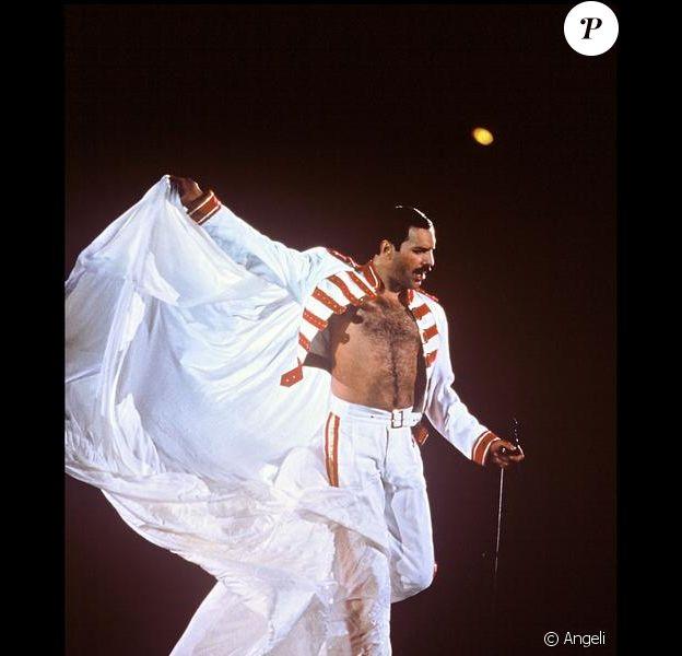 Freddie Mercury en concert en 1986