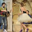 Arthur Jugnot et Mathilde Penin à la répétition générale de la pièce A deux lits du délit. 14/09/2010