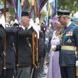Le prince Charles et son épouse Camilla lors de la commémoration de la Bataille d'Angleterre en l'abbaye de Westminster à Londres le 20 septembre 2010