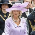 La duchesse Camilla Parker Bowles et épouse du prince Charles lors de la commémoration de la Bataille d'Angleterre en l'abbaye de Westminster à Londres le 20 septembre 2010