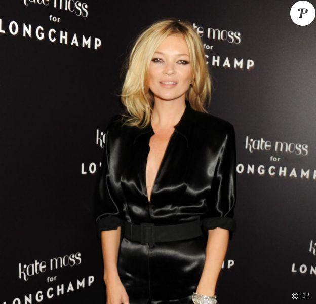 Kate Moss lors de la soirée Longchamp à Londres. Mardi 21/09/10