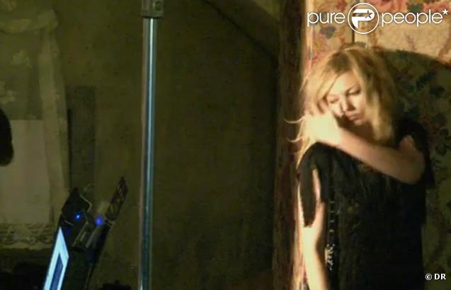 Kate Moss dans le making of de la campagne Longchamp