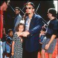 Charlie Sheen et sa fille Cassandra qui vient de marier, ici en 1992