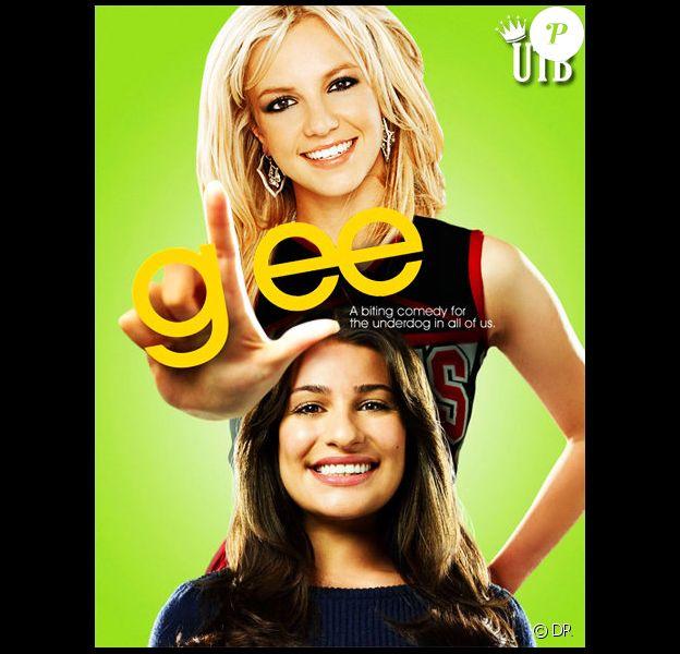 Britney Spears et Lea Michele pour la série Glee