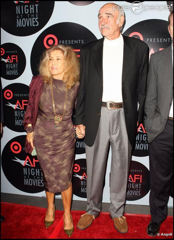 Sean Connery et son épouse Micheline en 2008 à Hollywood