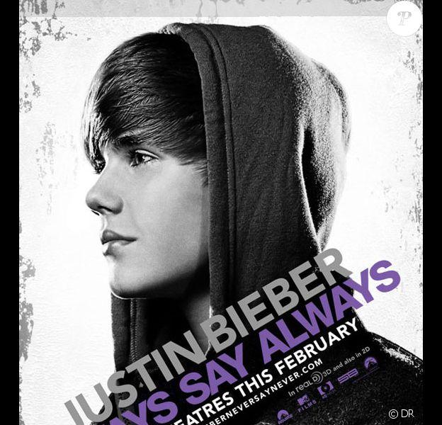 Justin Bieber sortira Never say never, son biopic en 3D le 11 février 2011 dans les  salles américaines.