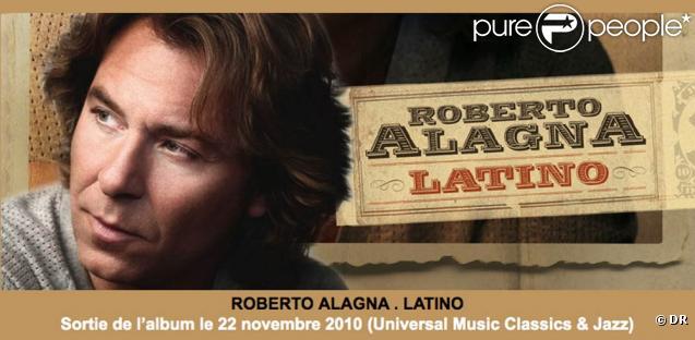 Roberto Alagna laisse parler sa fougue latino en reprenant des standards de la musiques sud-américaine dans l'album  Latino  !