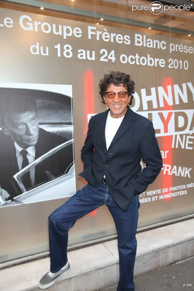 "Inauguration exposition ""Johnny Hallyday inédit par Tony Frank"", Espace Pierre Premier, le 18 octobre 2010 : Tony Frank."