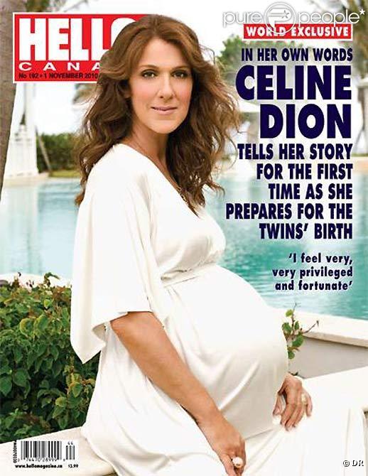 Céline Dion, bientôt mère de jumeaux, dévoile son superbe