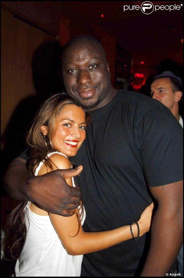 Photo exclusive Mouss Diouf et Sandrine en 2005