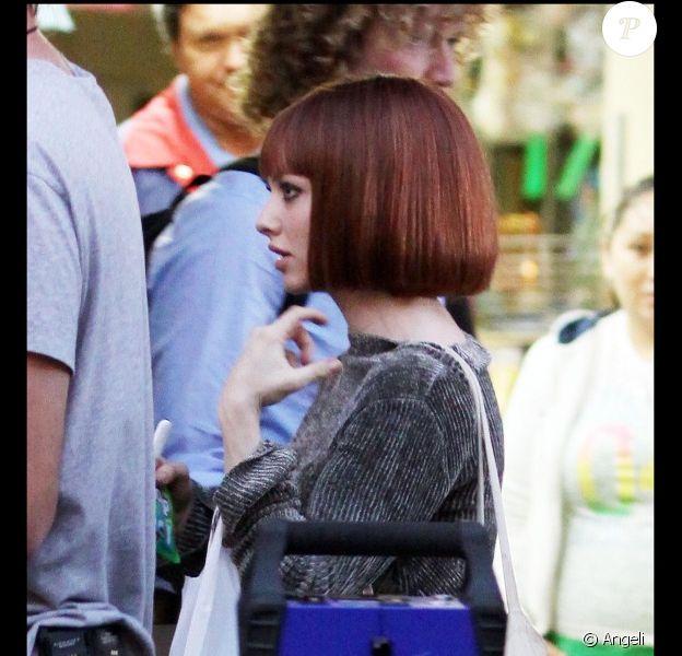 La comédienne Amanda Seyfried sur le tournage du film Now à Los Angeles le 15 novembre 2010