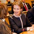 Mathilde de Belgique illuminait le 20 novembre le 20e anniversaire de la Convention relative aux droits de l'enfant, dans le cadre de la Journée mondiale de l'enfance, à Bruxelles.