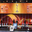 Adriana Karembeu procédait avec l'Allemande Steffi Jones, présidente du comité organisateur du Mondial 2011 féminin, au tirage au sort des poules, le 29 novembre 2010 à Francfort. Et elle a eu la main lourde pour les Bleues...