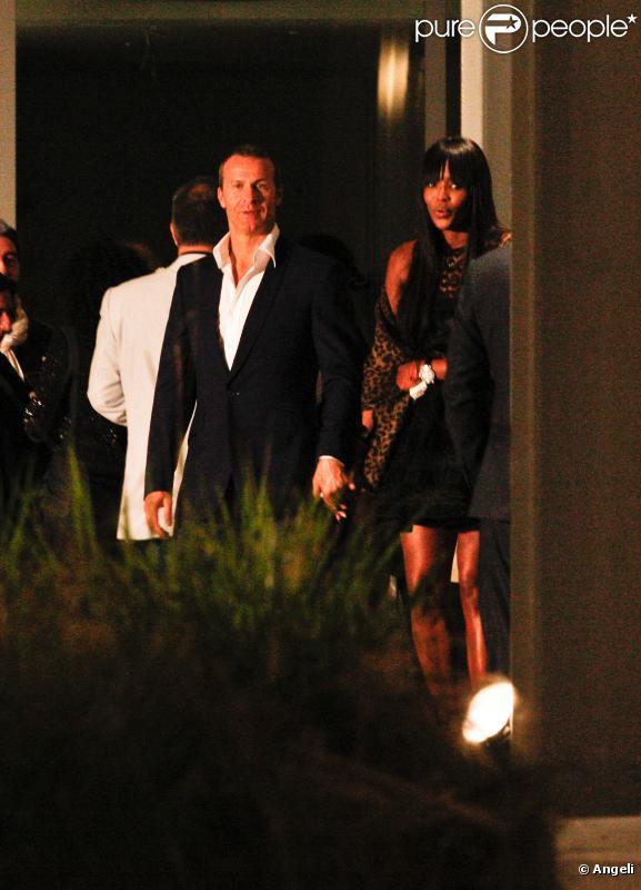 Naomi Campbell et Vladimir Doronin à la sortie de l'opéra à Miami le 5 décembre 2010