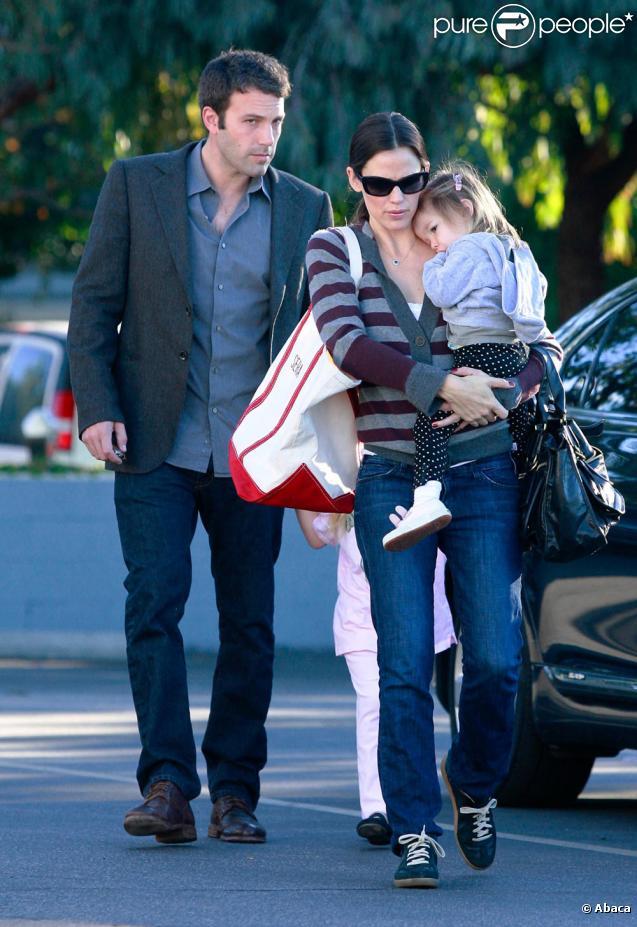 La famille Affleck-Garner réunie... enfin ! (12 décembre 2010 à Pacidic Palisades)