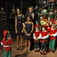 Barack et Michelle Obama ont reçu Mariah Carey pour le concert de Noël de Washington le 12 décembre 2010