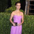 Natalie Portman porte une robe Rodarte à la soirée Vanity Fair, le 22 février 2009.