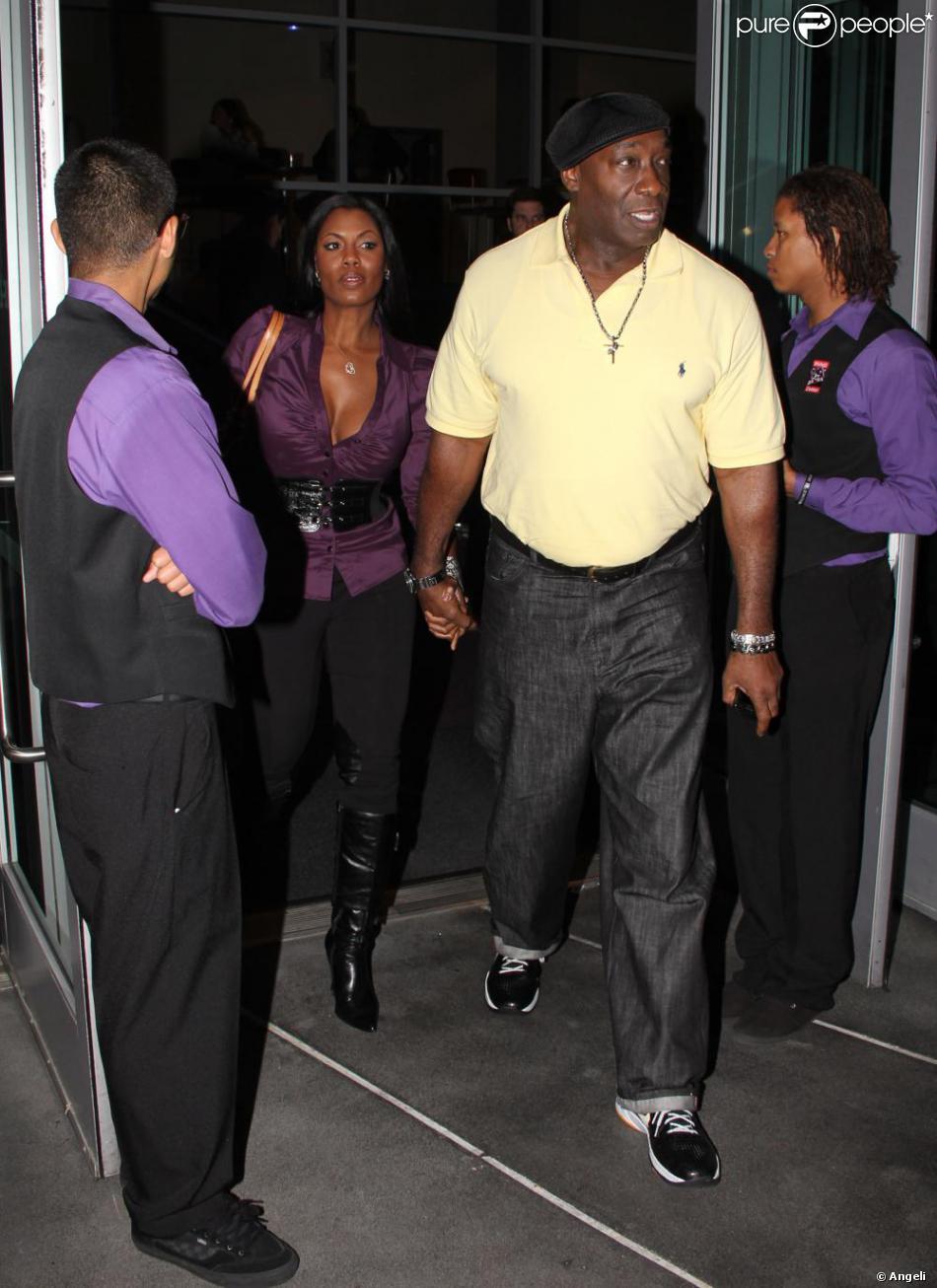 Michael Clarke Duncan et sa femme Omarosa au match des