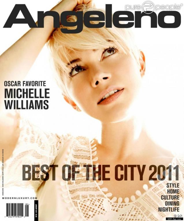 Michelle Williams en couverture d'Angeleno