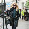 Claudia Schiffer à Londres, le 11 janvier 2011.