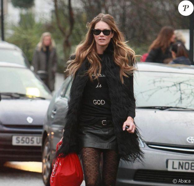 Elle Macpherson à Londres, le 11 janvier 2011.