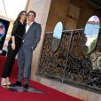 Colin Firth et sa femme Livia Giuggioli à l'occasion de l'hommage rendu à l'acteur anglais sur le Walk of Fame, à Los Angeles, le 13 janvier 2011.