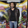 L'acteur Olivier Sitruk assiste au plus long match de football du monde, organisé par Panini, à l'occasion de la publication du 35e album de stickers des joueurs de football de Ligue 1 et Ligue 2.