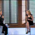Michel Drucker interviewe Sharon Stone lors de l'émission Champs-Elysées, le 15 janvier 2011