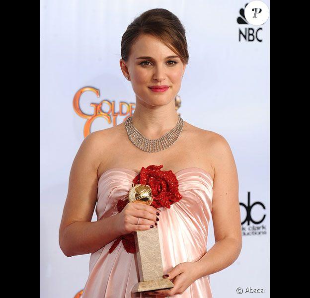 Natalie Portman Golden Globes 2011 meilleure actrice dans un film dramatique pour Black Swan