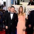 Mark Wahlberg et sa femme Rhea lors des Golden Globes le 16 janvier 2011 à Los Angeles