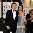 Colin Firth et sa belle Livia lors des Golden Globes le 16 janvier 2011 à Los Angeles