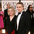 Jeremy Irons et sa femme Sinead Cusack lors des Golden Globes le 16 janvier 2011 à Los Angeles