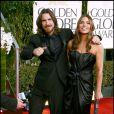 Christian Bale et sa femme Sandra lors des Golden Globes le 16 janvier 2011 à Los Angeles