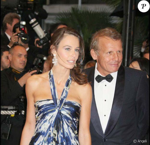 Patrick Poivre d'Arvor et Agathe Brone, festival de Cannes, mai 2008