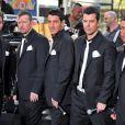 Joey McIntyre, Donnie Wahlberg, Jonathan Knight, Jordan Knight et Danny Wood des New Kids On The Block, à New York, mai 2009