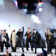 Les New Kids On The Block et les Backstreet Boys, à New York, le 31 décembre 2010