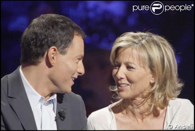 Marc-Olivier Fogiel et Claire Chazal sur le plateau de Qui veut gagner des millions ?, spéciale people
