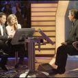 Marc-Olivier Fogiel, Jean-Pierre Foucault et Claire Chazal sur le plateau de Qui veut gagner des millions ?, spéciale people