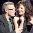 Laurent Ruquier et Isabelle Mergault sur le plateau de Qui veut gagner des millions ?, spéciale people