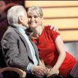 Jean d'Ormesson et Laeticia Hallyday sur le plateau de Qui veut gagner des millions ?, spéciale people