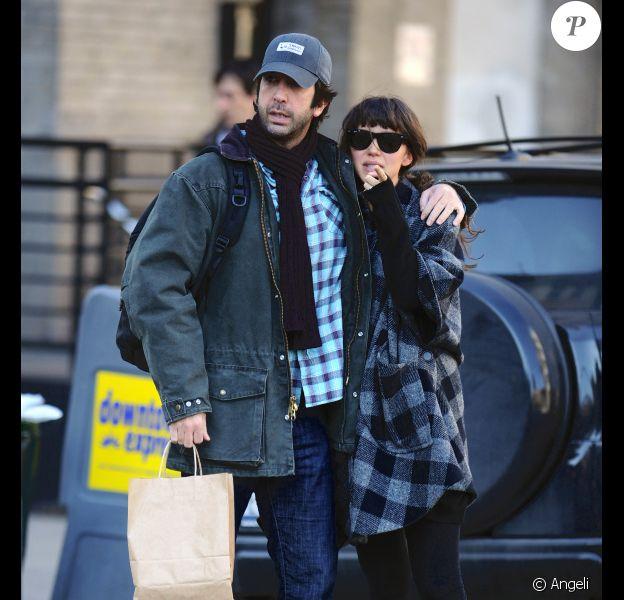 David Schwimmer et sa femme Zoe en amoureux (14 février 2011 à Manhattan)